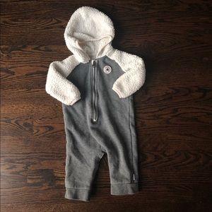 converse onesie gray fleece 9-12 months